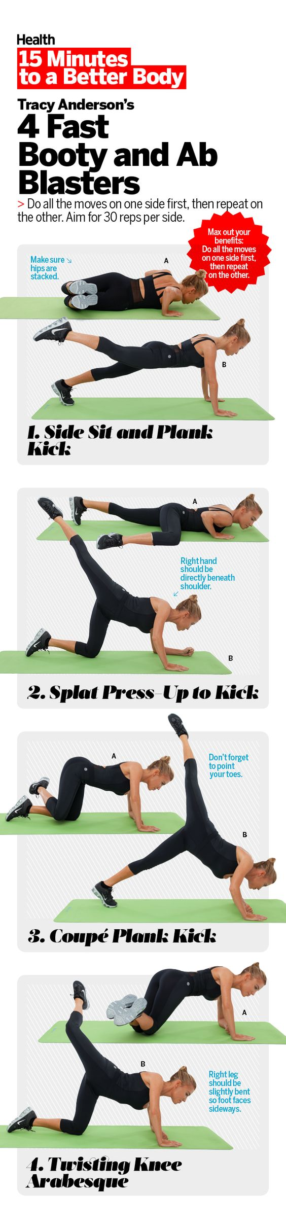 Protruding stomachs and saggy tushes will be a thing of the past, thanks to this power workout.   Health.com