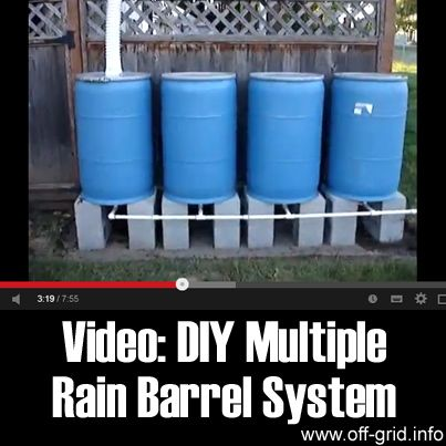 Rain barrels rain barrel system and barrels on pinterest for How to build a rainwater collection system