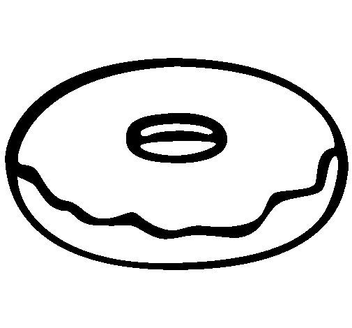 Donut Coloring Pages Donut Coloring Page Coloring Pages Donut Drawing