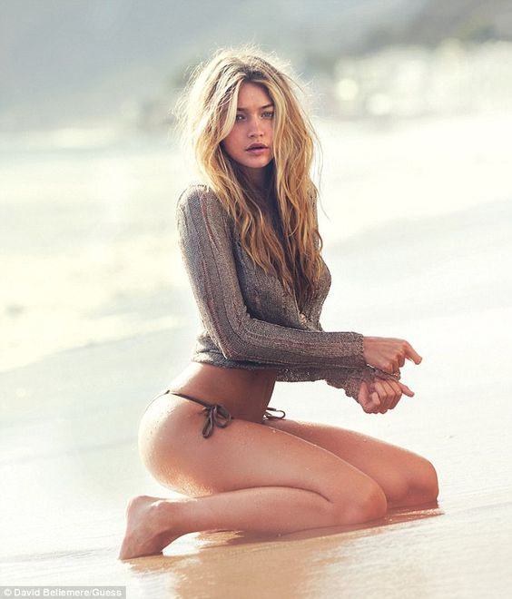 Gigi Hadid bares skin and is sexy for the Guess Spring/Summer 2015 Campaign