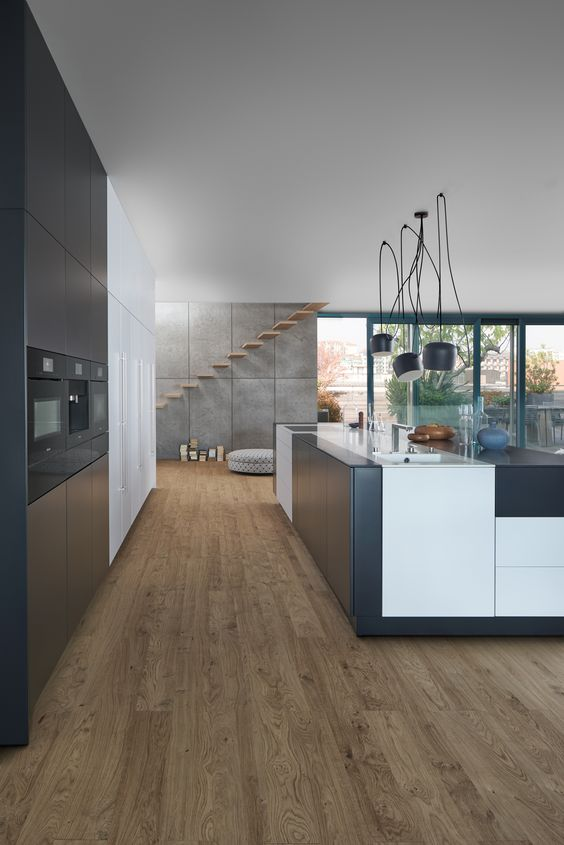 Küche Mit Holzboden: 9 Bilder U0026 Ideen Von Küchen Mit Parkett Und Holzdielen  | Kitchen Colour Combination, Kitchen Colors And Haus