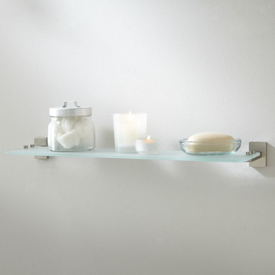 Helsinki collection tempered glass shelf bathroom glass - Bathroom accessories glass shelf ...