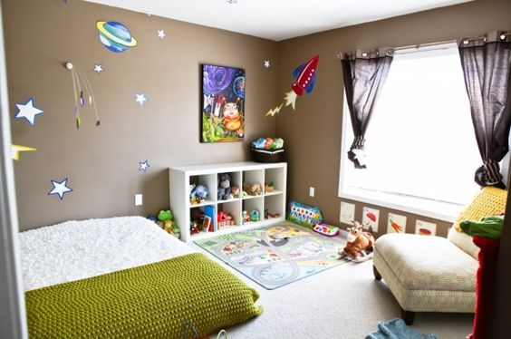 Great montessori style baby room: