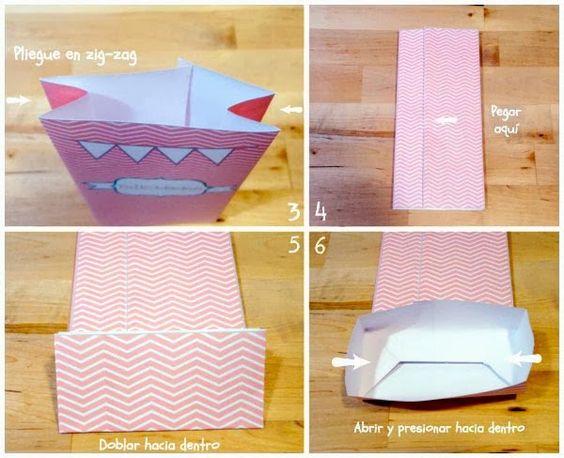 C mo doblar un papel para hacer una bolsa para regalos - Bolsa de papel para regalo ...