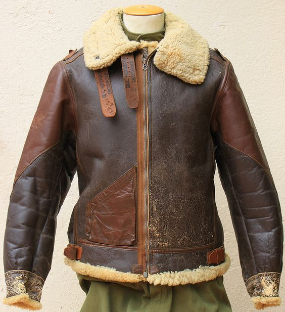 WW2 Original Type B-3 Flight Jacket | WWII B-17 and B-24 Aircraft