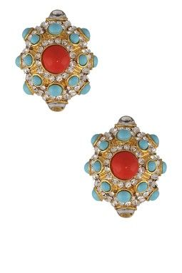 Calypso Coral Earrings