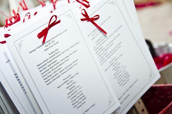 DIY Wedding Program / Agenda