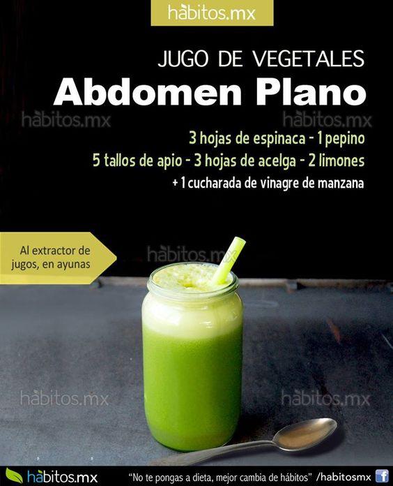 Jugo de vegetales para tener el abd. plano: