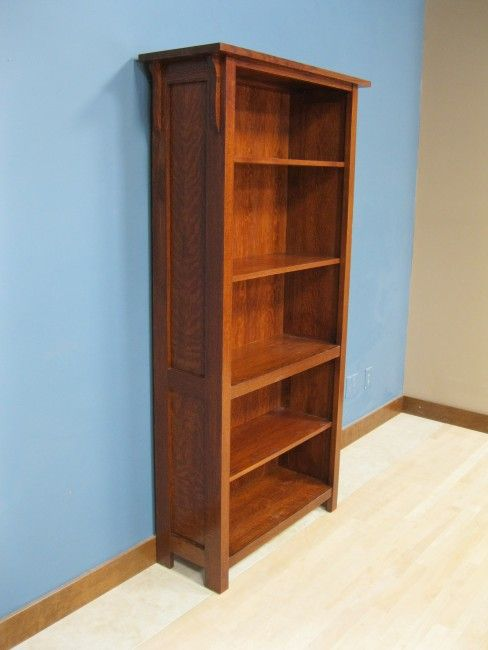 Quarter Sawn White Oak Mission Bookcase 50 3672 13 Bookcase With Glass Doors Colorful Furniture Living Room Home Decor