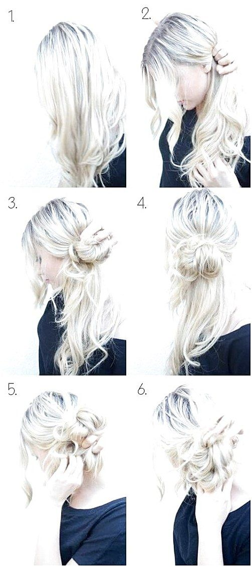 Step By Step Guide For Messy Side Bun Hairstyle Mediumhairbraiding Click Now To See More Side Bun Hairstyles Easy Updo Hairstyles Messy Hairstyles