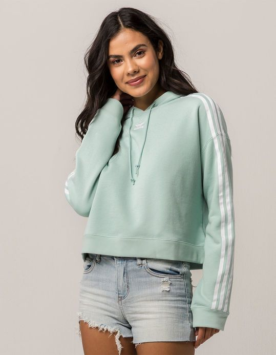 details for save up to 80% cost charm ADIDAS Originals Mint Womens Crop Hoodie in 2019 | Hoodies ...