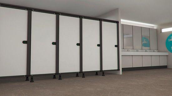 Nhà vệ sinh hiện đại với vách ngăn vệ sinh