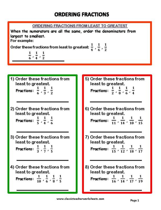 Fractions From Least To Greatest Worksheet Versaldobip – Order Fractions from Least to Greatest Worksheet