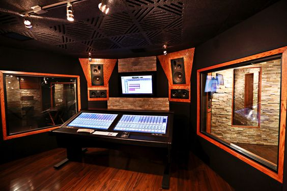 Black and cherrywood control room