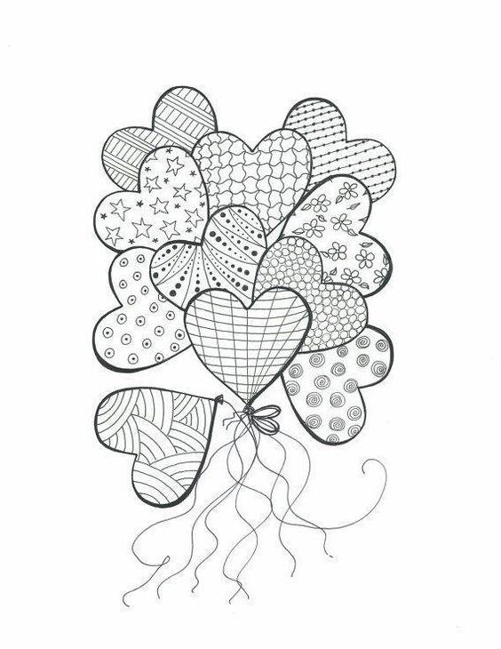Pin By Dustin Curry On Heart Drawings Heart Coloring Pages Coloring Books Coloring Pages