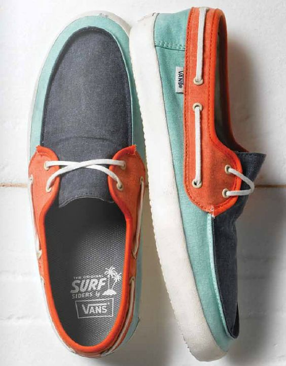 Vans // Colorful Boat Shoes | Happy Feet | Pinterest | The ...