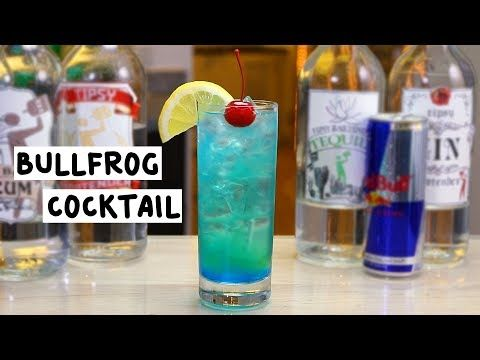 Bullfrog Cocktail Tipsy Bartender Cocktails Vodka Red Tequila Drinks