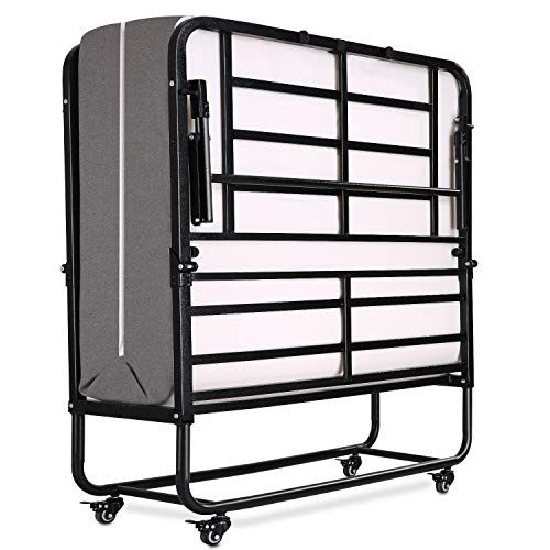 Smile Back Folding Bed Rollaway Bed With Mattress For Adults Fold