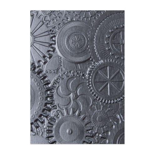 Tim Holtz Mechanics 3D Embossing Folder 662715 Texture Fades