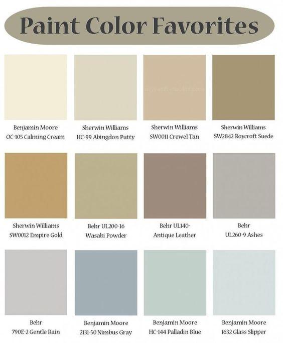 paletas de colores pintura casa