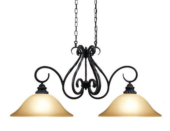 Woodbridge Lighting Rosedale 2-light Tortoise Shell Island Light