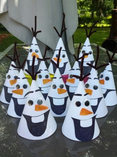 Olaf Frozen Birthday Party Hats
