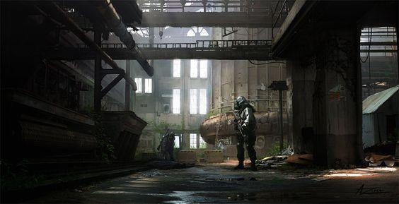 Abandoned Factory, Phelan A. Davion on ArtStation at https://www.artstation.com/artwork/abandoned-factory-ba1f29ff-4960-4111-963a-cbd6113f0faf