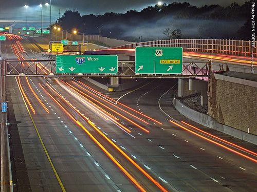 Night traffic on I-435, Overland Park, KS