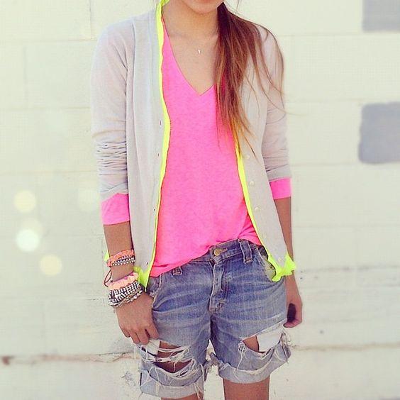pink + yellow neon: Neon Neutral, Dream Closet, Neon Trim, Spring Summer, Neutrals Neon, Neon Colors, Neon Pink, Bright Colors