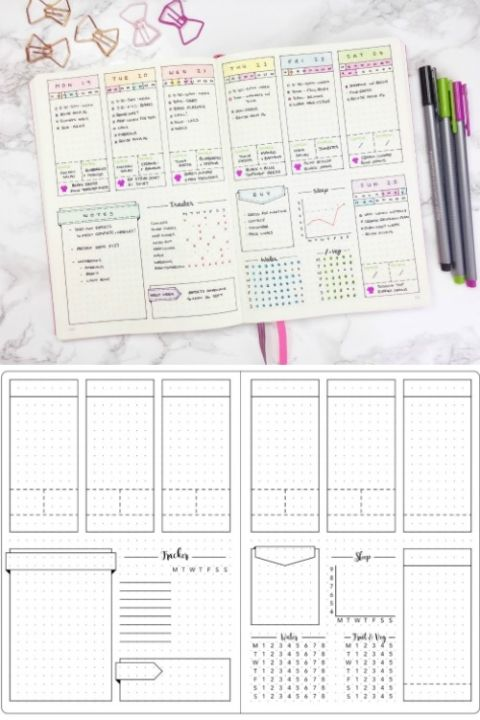 Creative Bullet Journal Ideas And Planner Spreads 手帳術 バレットジャーナル 家計簿