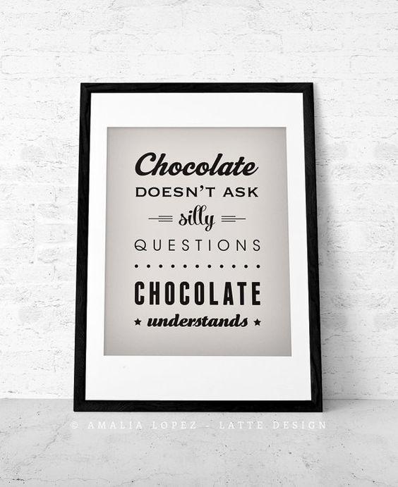 Schokolade Fragen nicht dumme Schokolade retro von LatteDesign