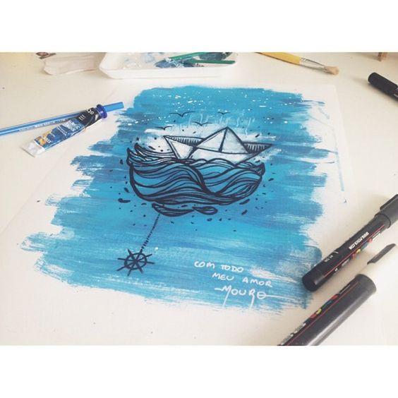 ⠀ Pra finalizar esse ciclo, criei essa arte. Para lembrar a mim, aos 9 marujos incriveis que dividiram essa jornada comigo, ao ex-marujos e aos futuros marujos: Que naveguemos sempre como barcos de papel, leves, vulneraveis, mais firmes. Sempre seguindo na direção escolhida. E que sempre que precisar, um barquinho de papel pode virar um chapéu e poderemos voltar a ser marujos. ⠀ AHOY! ⠀ #estaleiroliberdade #art #artwork #drawing #draw #boat #sailor #mouroart