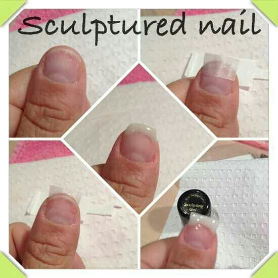 Some Nailtechs Opt To Use A Fiberglass Mesh For Sculptured Nail Application Instead Of The Nail Form Met Fiberglass Nails Nail Tutorial Videos Sculptured Nails