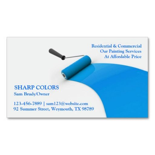 Painting Business Card In 2021 Painted Business Cards Blue Business Card Painter Business Card