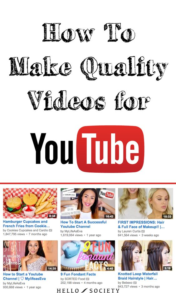 How To Make Quality Videos For YouTube | HelloSociety Blog