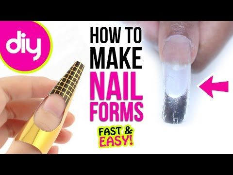 How To Make Nail Forms For Acrylic Youtube Nail Forms Diy Acrylic Nails Acrylic Nails At Home