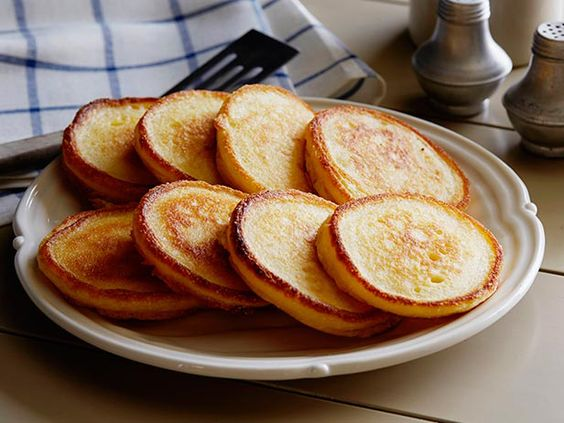 Hoecakes Recipe : Paula Deen : Food Network - This is one of the best recipes for hoecakes/ fried cornbread that I have made.  They are light and fluffy and can be easily adapted to add in flavors.