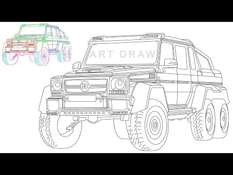 Mercedes Benz G63 6x6 Amg Brabus 700 How To Create Digital Drawing