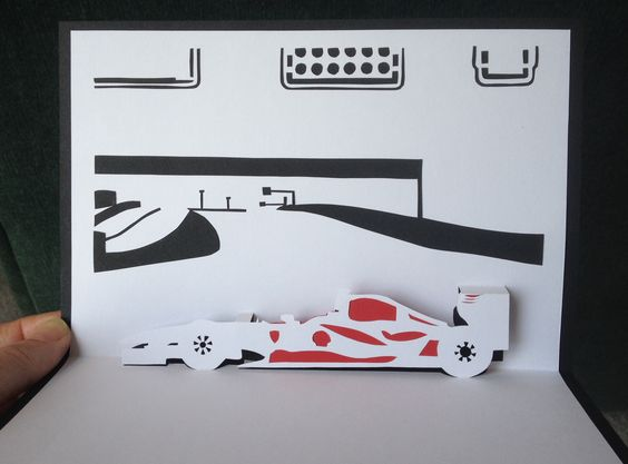 Pop Up Vehicles : Race cars and cards on pinterest