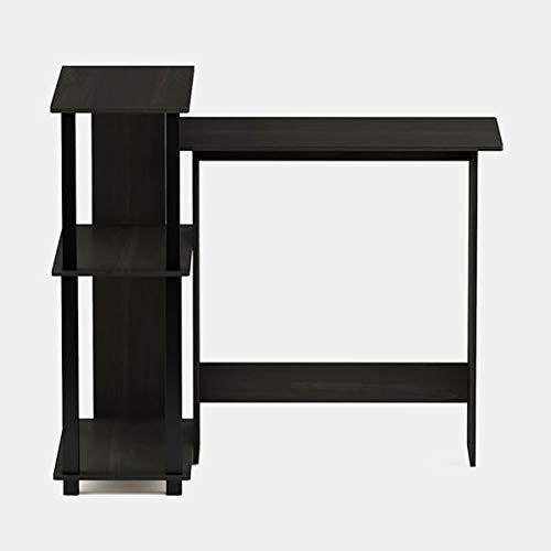 Wood Desk With Shelves Corner Computer Desk Espresso Black Desk Shelves Wood Desk Desk