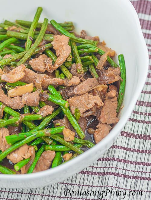 Adobong Sitaw is a vegetable dish composed of string beans cooked adobo style. As you might have noticed, almost all ingredients can be cooked using the famous adobo style - be it meat or vegetables.