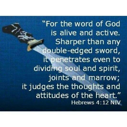 Hebrews 4:12 (NIV Bible)   Inspiration From God's Word ...