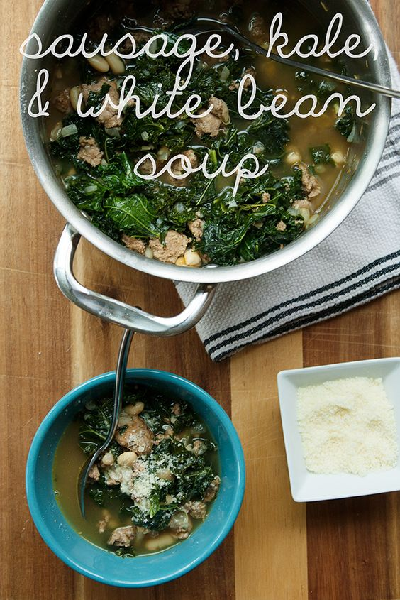 White bean soup, Bean soup recipes and White beans on Pinterest