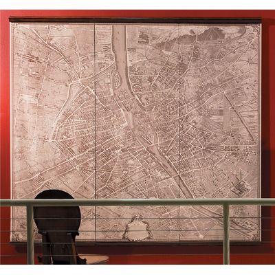 Authentic Models 1739 Paris Map Scrolls