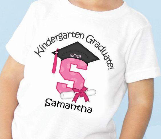 Kindergarten Graduation Personalized Tshirt Tshirt by bafoodle, $11.00
