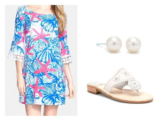 """Brunch with the Boyfriend"" by zoeantonpeat ❤ liked on Polyvore featuring Tiffany & Co., Lilly Pulitzer, Jack Rogers, preppy, Prep and southernprep"