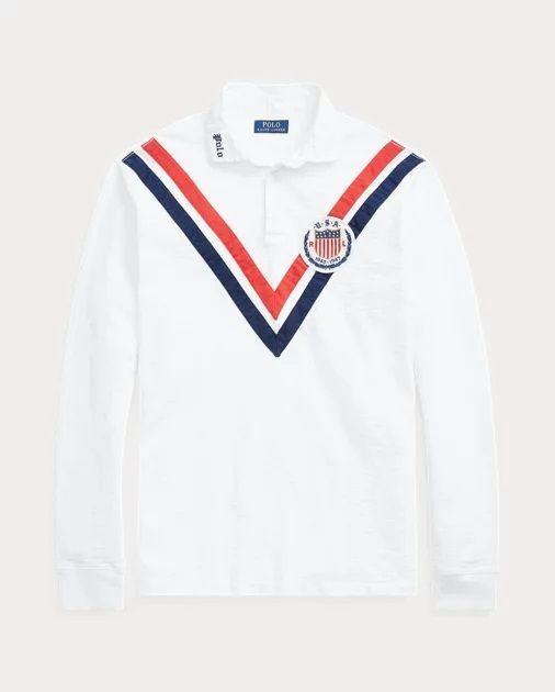 Polo Ralph Lauren Chemise De Rugby Classique En Coton Oxford Blanc Pour Homme Chemise Et Polo Pour Homme P Bomber Jacket Vintage Ralph Lauren Polo Ralph Lauren
