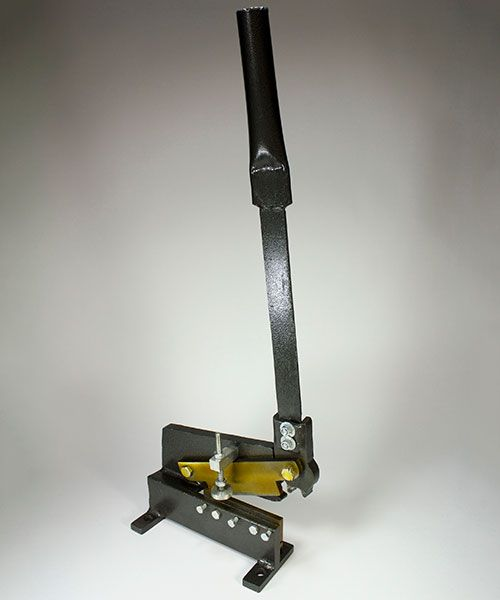 "Economy Bench Shear ""Perfect for cutting soft metal rods and sheet up to 10ga thick (0.10"")."""