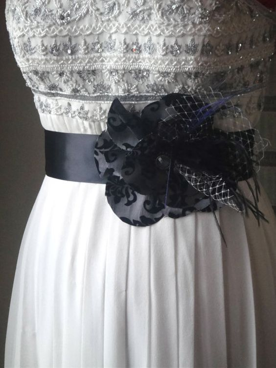 Bridal Sash In Black