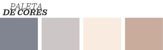 Paleta de cores neutras